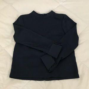 H&M Navy Long Sleeve Blouse